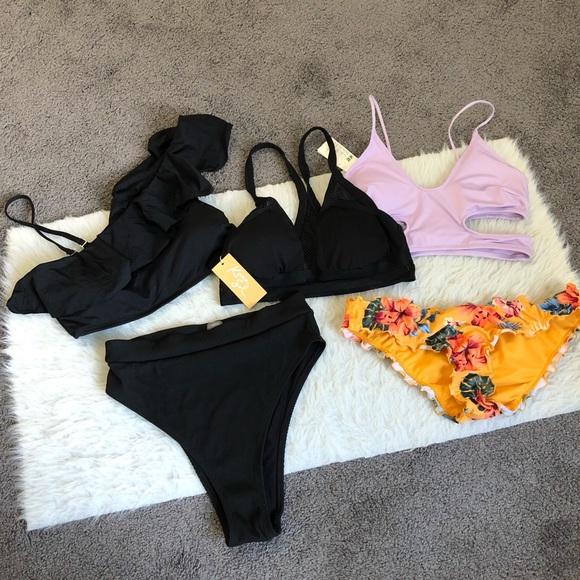 5 piece size Medium bikini swim separates bundle